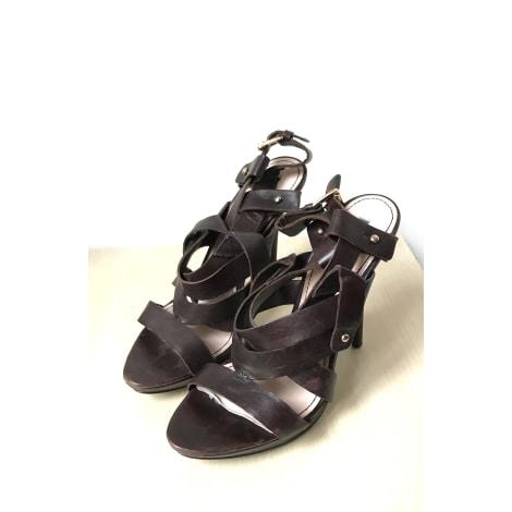 Sandales compensées ZARA Marron