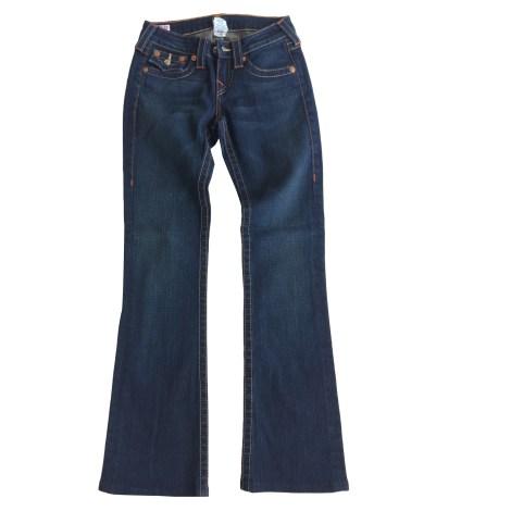 Jeans évasé, boot-cut TRUE RELIGION Jeans bleu foncé