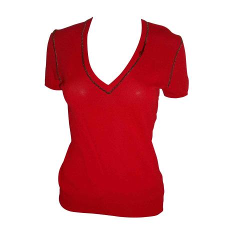 Top, tee-shirt DSQUARED2 Rouge, bordeaux