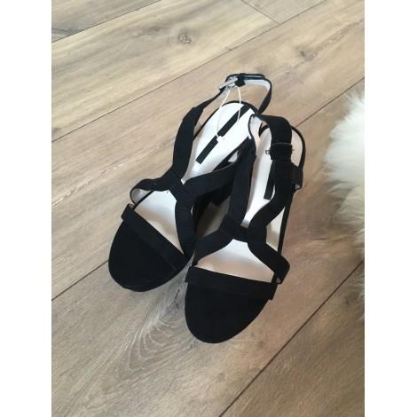 Sandales compensées ZARA Noir