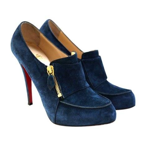 Bottines & low boots à talons CHRISTIAN LOUBOUTIN Bleu, bleu marine, bleu turquoise