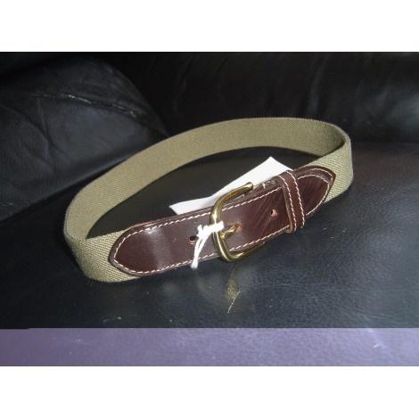 Belt SCAPA kaki et cuir marron
