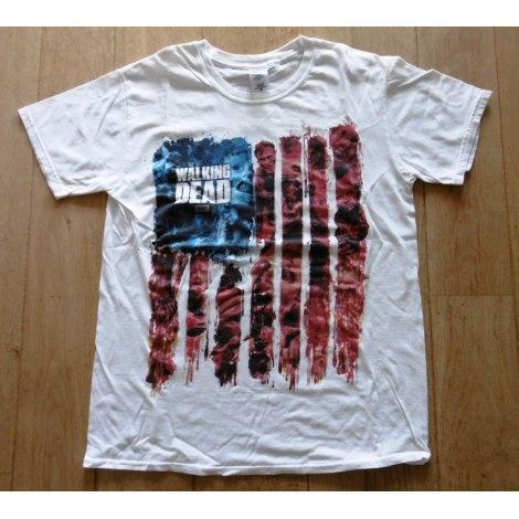 Tee-shirt GILDAN Blanc, blanc cassé, écru