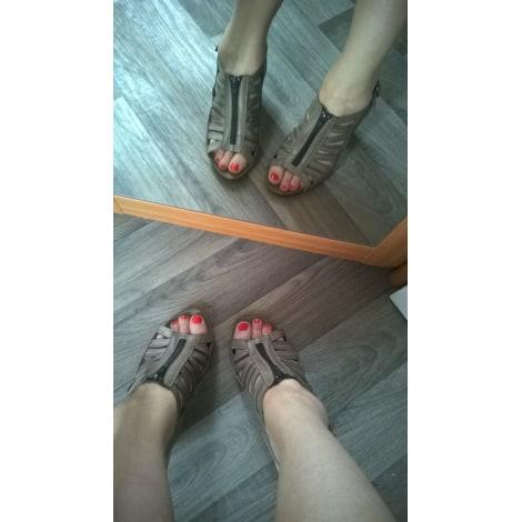 Sandales à talons SWEDI Beige, camel