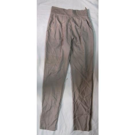 Pantalon slim, cigarette PURPLE GREEN Beige, camel