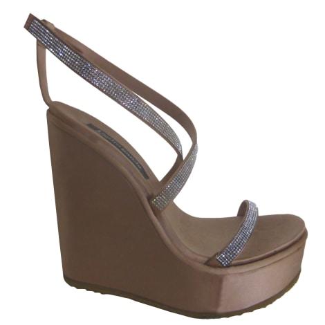 Sandales compensées PEDRO GARCIA Beige, camel