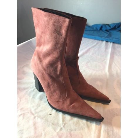 Santiags, bottines, low boots cowboy NAVYBOOT Rose, fuschia, vieux rose