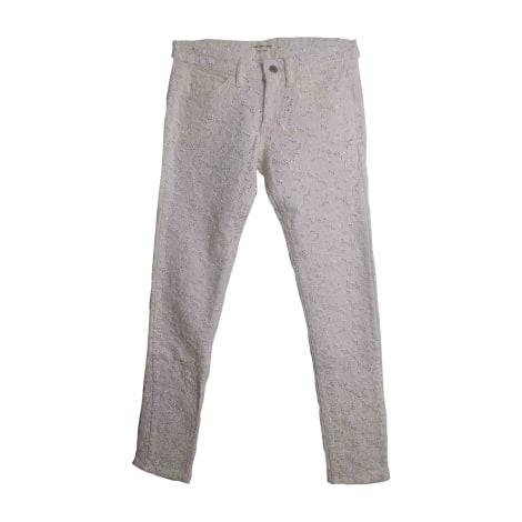 Jeans slim ISABEL MARANT ETOILE Blanc, blanc cassé, écru