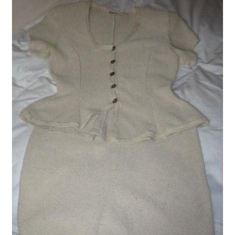 Tailleur jupe MARYSE CEPIERE Blanc, blanc cassé, écru