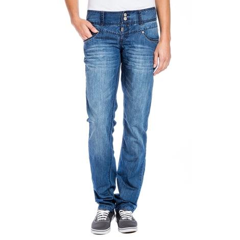 Jeans droit TIMEZONE Bleu, bleu marine, bleu turquoise