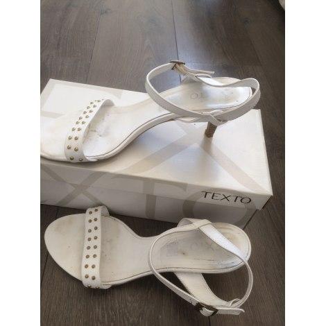 Sandales à talons TEXTO Blanc, blanc cassé, écru