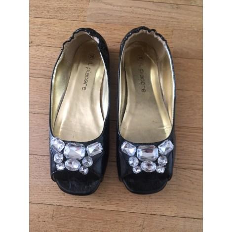 Sandales plates  MARQUE INCONNUE Noir