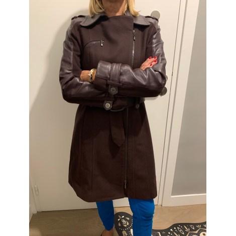 Manteau en cuir SANDRO Violet, mauve, lavande