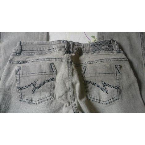 Jeans droit MANGO Gris, anthracite