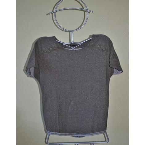 Top, tee-shirt IKKS Marron