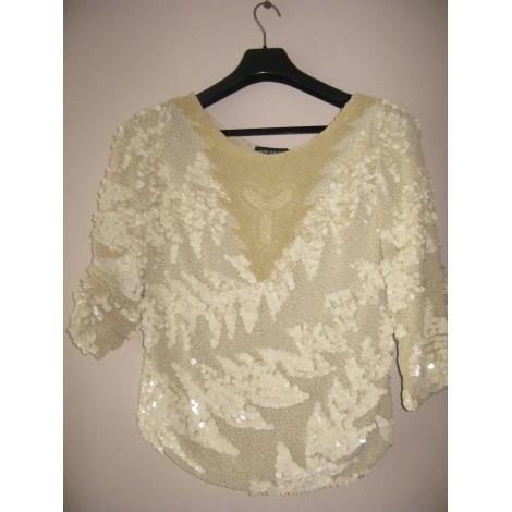 Top, tee-shirt ANTIK BATIK Blanc, blanc cassé, écru