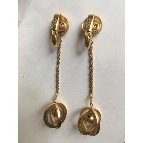 Boucles d'oreille TRIFARI Doré, bronze, cuivre