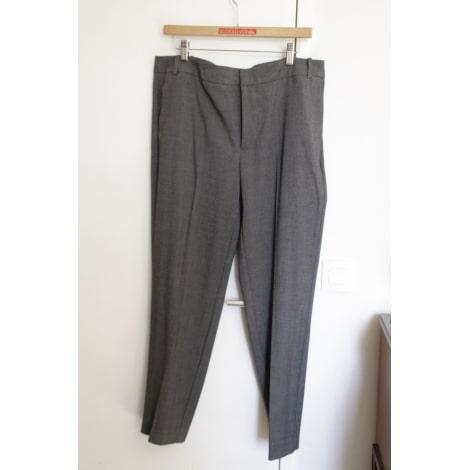Pantalon droit ZARA Gris, anthracite