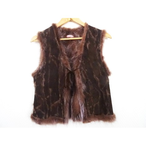 Gilet sans manches STELLA FOREST Marron