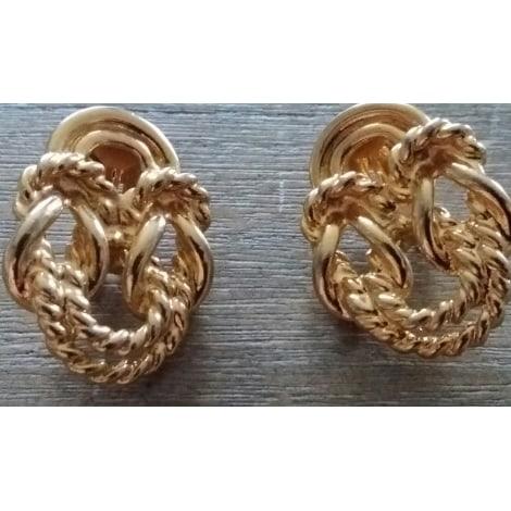 Boucles d'oreille TED LAPIDUS Doré, bronze, cuivre