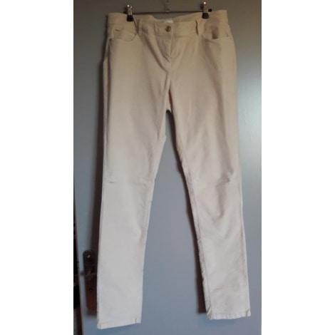 Pantalon droit PROMOD Blanc, blanc cassé, écru