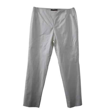 Pantalon droit BROOKS BROTHERS Blanc, blanc cassé, écru