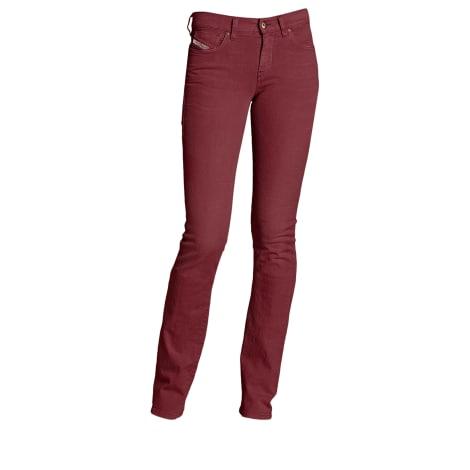 Jeans évasé, boot-cut DIESEL Rouge, bordeaux