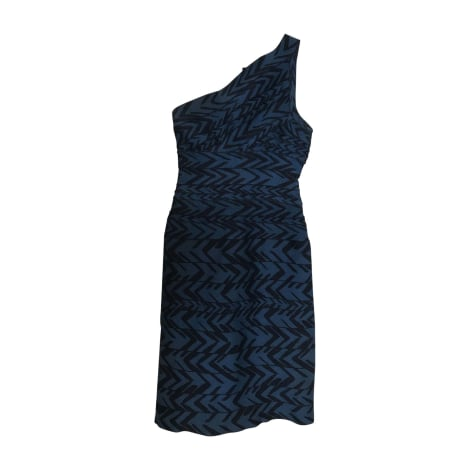 Robe courte HERVE LEGER Bleu, bleu marine, bleu turquoise