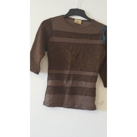 Top, tee-shirt LEGATTE Doré, bronze, cuivre