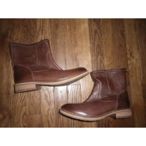Bottines & low boots motards ANDRÉ Marron