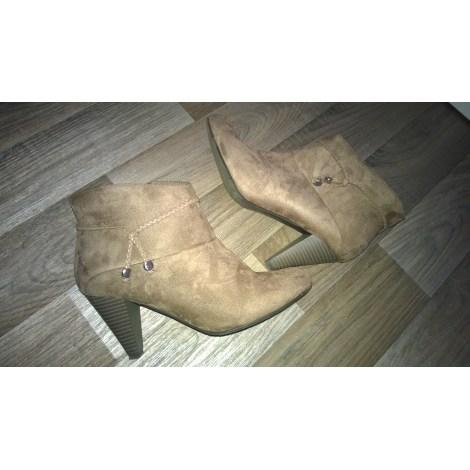 Bottines & low boots à talons ANNA FIELD Beige, camel