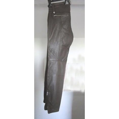 Pantalon droit SET Marron