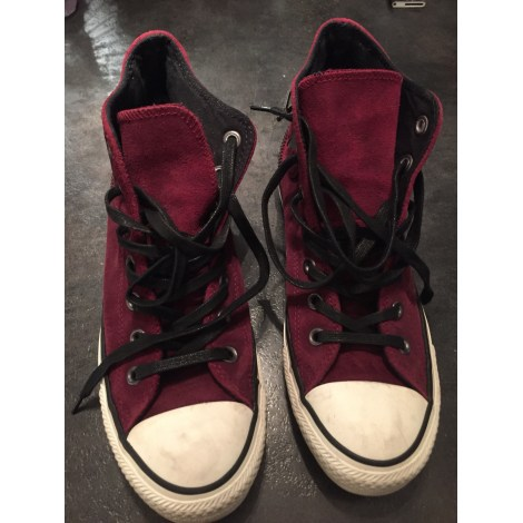 Baskets CONVERSE Rouge, bordeaux