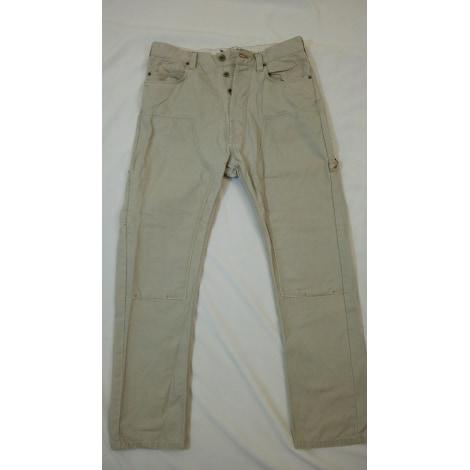 Pantalon droit FCUK Beige, camel
