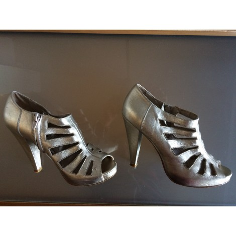 High Heel Ankle Boots STEVE MADDEN Silver