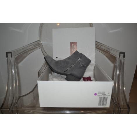 Bottines & low boots plates COMPTOIR DES COTONNIERS Gris, anthracite