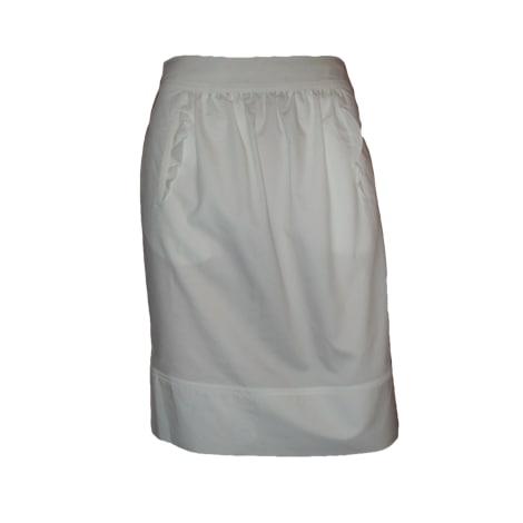 Jupe courte TARA JARMON Blanc, blanc cassé, écru