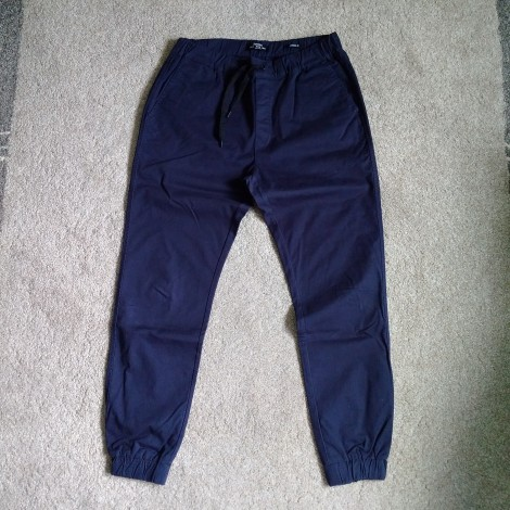 Pantalon slim BERSHKA Bleu, bleu marine, bleu turquoise
