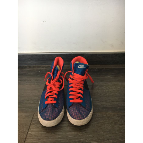 Baskets NIKE Bleu, bleu marine, bleu turquoise