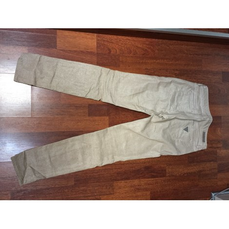 Pantalon slim, cigarette GUESS Doré, bronze, cuivre