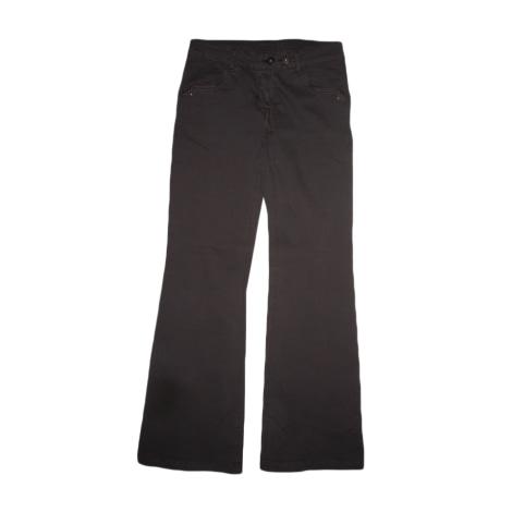 Pantalon évasé CAMAIEU Marron