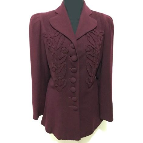 Blazer, veste tailleur 100% VINTAGE Rouge, bordeaux