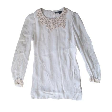 Robe courte FRENCH CONNECTION Blanc, blanc cassé, écru