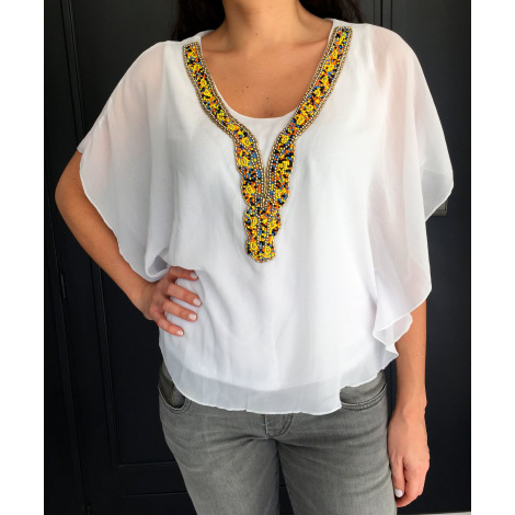 Top, tee-shirt BRÉAL Blanc, blanc cassé, écru