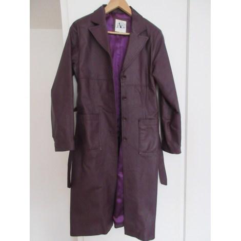 Manteau en cuir AUGUSTUS Violet, mauve, lavande