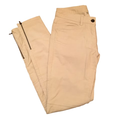 Pantalon slim, cigarette SANDRO Blanc, blanc cassé, écru