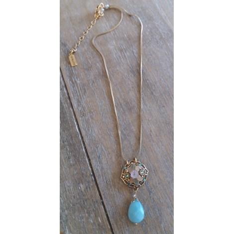 Pendentif, collier pendentif SATELLITE Doré, bronze, cuivre
