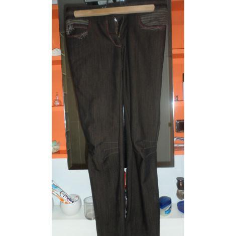 Pantalon slim, cigarette TRICOT CHIC Marron
