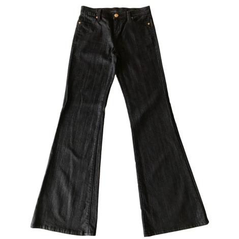 Jeans très evasé, patte d'éléphant BCBG MAX AZRIA Noir