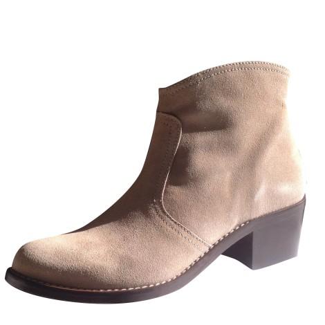 Bottines & low boots à talons ATELIER AUGUSTE Blanc, blanc cassé, écru